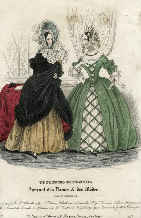 October fashions, 1837 France, Journal des Dames et des Modes
