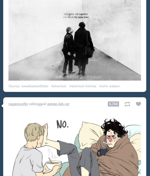 I love the timing Tumblr has sometimes…Sherlock obviously doesn't share the same dreams for the future as John does.
