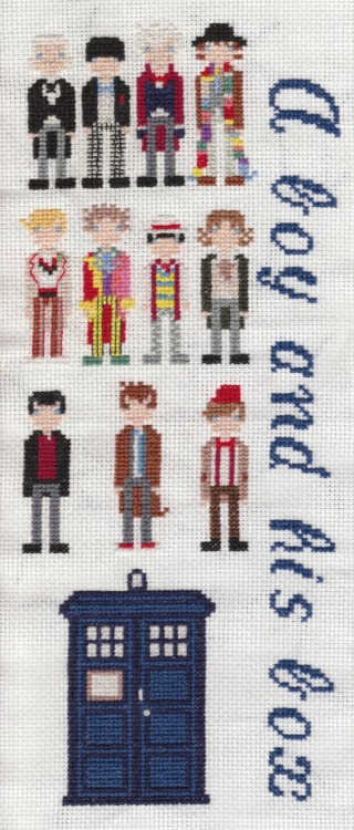 misanderingthroughthewoods:  My Doctor Who cross stitch, finally finished!