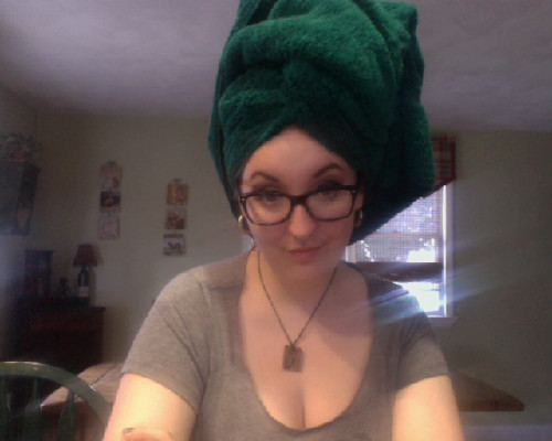 Apparently I need a LOT of turban for a small mess of hair.