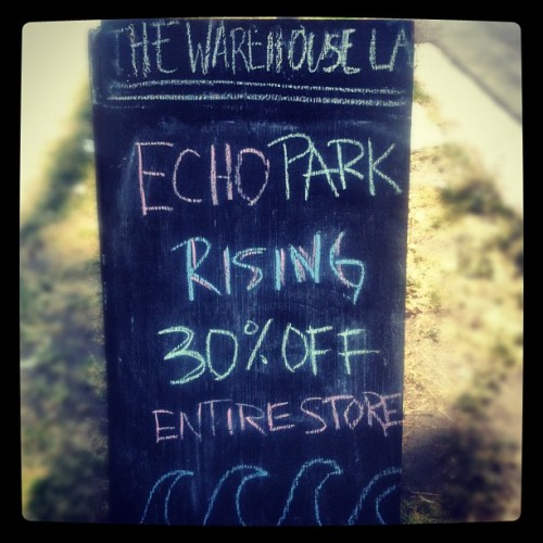 Echo Park Rising! Come in and get 30% the entire store!  (Taken with Instagram at The Warehouse LA)