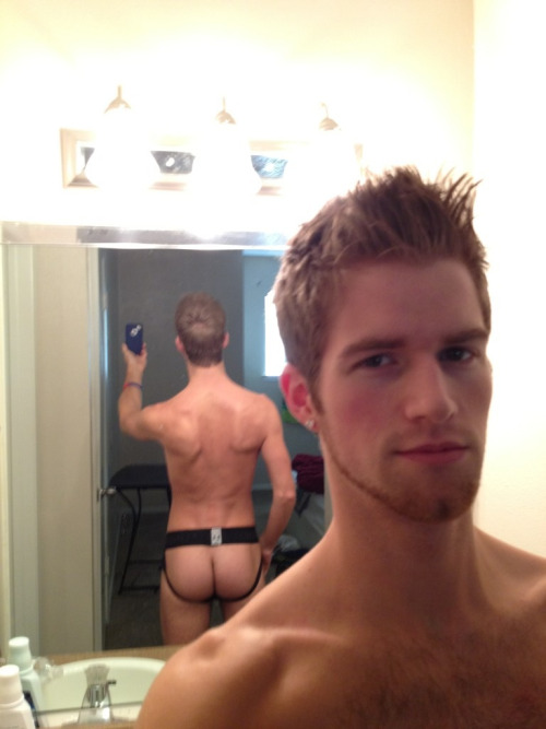 scruffy Blake Bennet showing off that jock ass