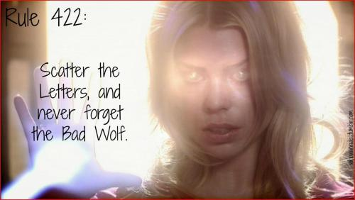 Rule 422: Scatter the Letters, and never forget the Bad Wolf. Submission! [Image Credit]