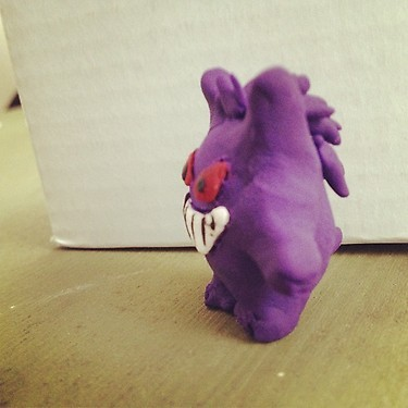 Gengar Made from Sculpey. Testing out the new clay with its amazing baking abilities :P