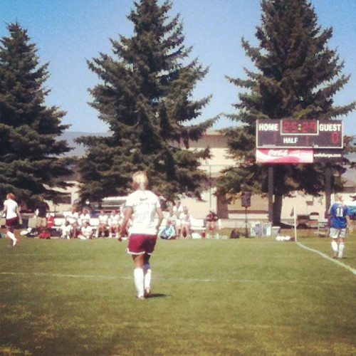 Went to work with Josh (@jpetrie18)today! #CWU #soccer (Taken with Instagram)