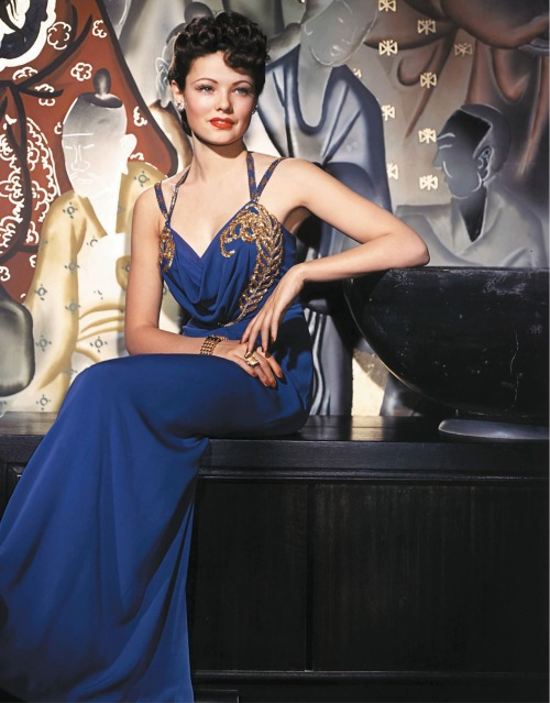 Gene Tierney in Shanghai Gesture (1941). A film noir starring Gene Tierney and Walter Huston, with Victor Mature and Ona Munson.