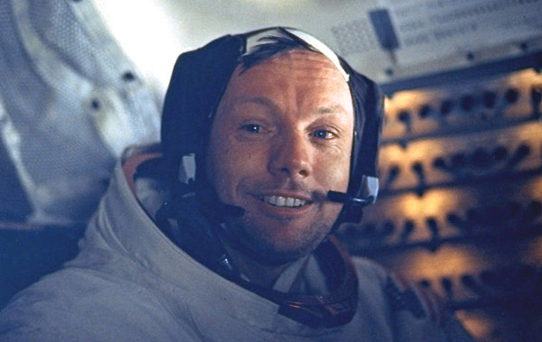 "inothernews:  Neil Armstrong, a quiet, self-described nerdy engineer who became a global hero when he made ""one giant leap for mankind"" with a small step on to the moon, died from complications related to cardiovascular procedures on Saturday. He was 82.  Mr. Armstrong commanded the Apollo 11 spacecraft that landed on the moon on July 20, 1969, capping the most daring of the 20th century's scientific expeditions. His first words after setting foot on the surface are etched in history books and the memories of those who heard them in a live broadcast.  (Photo: NASA via the New York Times; caption via the Times)  More on Neil Armstrong"