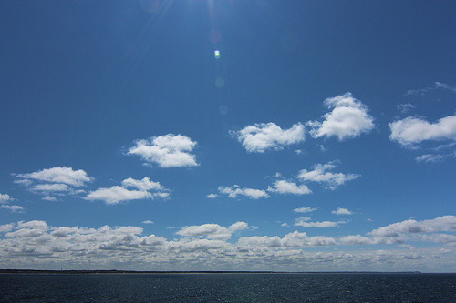 Place: Nordjylland, Denmark Date/Time: 2012-07-18 12:58:00 Camera: Canon EOS 600D Nothing but blue skies.