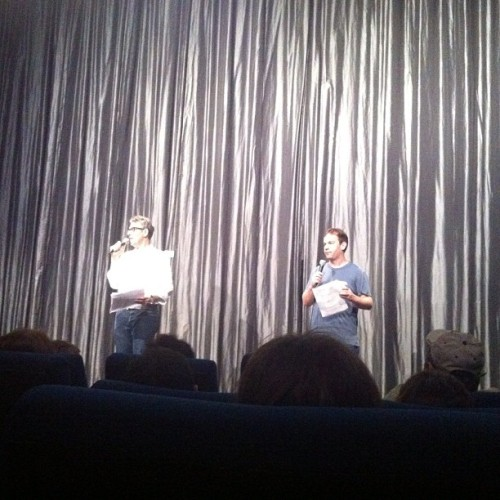"Ira Glass & Mike Birbiglia @ ""Sleepwalk With Me"" Marathon Q&A at the IFC Center (Taken with Instagram)"