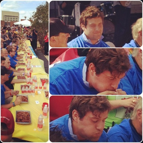 Highlights of watching a drunk fool trying to eat 5-lbs of bacon at BaconFest.