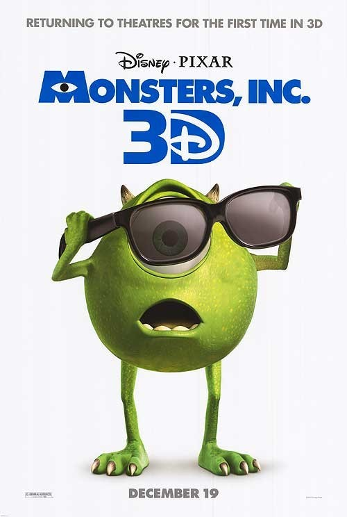 Sneak Peek: MONSTERS, INC. 3D Poster