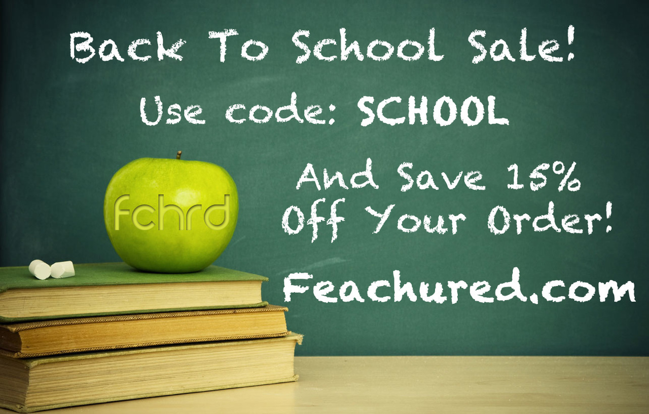 Back to School Sale!! Save 15% off your order! Be smart and shop today!