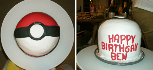 I'm a mature adult. Hurhur. Ben loved his cake, though. :D