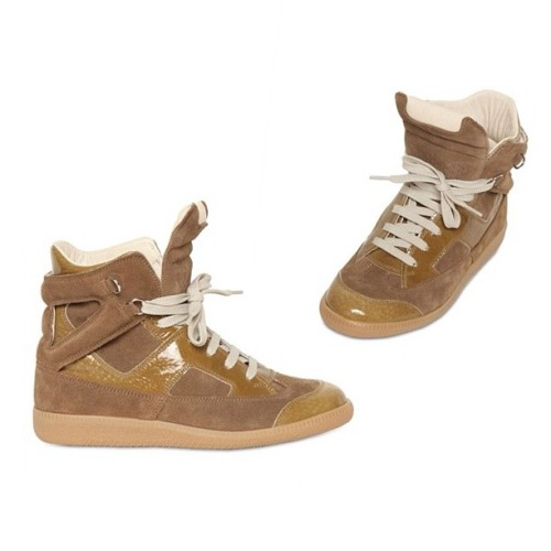 #MAISONMARTINMARGIEA 30MM #SUEDE & PATENT #LEATHER #SNEAKERS   (Taken with Instagram)