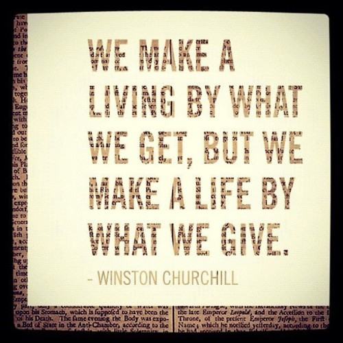 #realtalk #thatsreal quote from Winston Churchill  (Taken with Instagram)