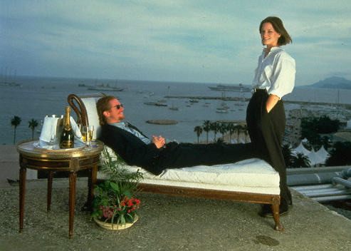 Stoltz gains control of the chaise in Cannes, 1993.