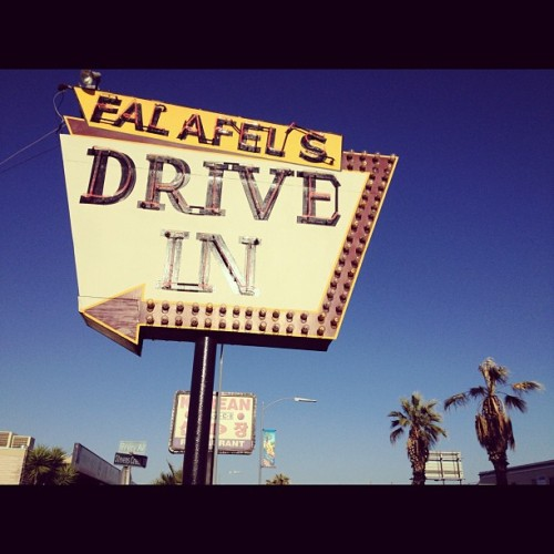 La dolce vita (Taken with Instagram at Falafel's Drive-In)