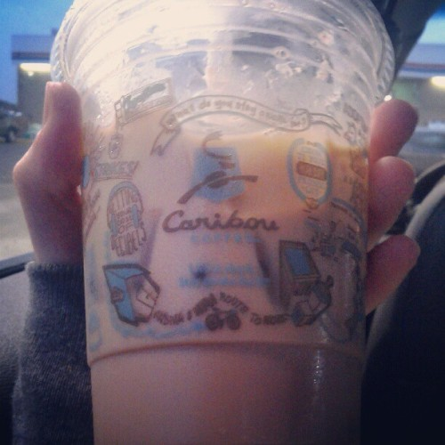 Iced chai latte. Hipster mode activated  #cariboucoffee #coffee  (Taken with Instagram)