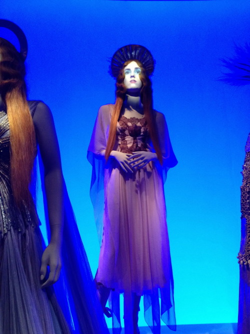 Here's a photodump from my trip to the Jean Paul Gaultier exhibit at the De Young museum last weekend! The faces were projected onto the mannequins and the ones here would smile, smirk and sing. JPG himself would babble about his beginnings, although his face and mannerisms just remind me of the Moon from Might Boosh, or a character from the thumb movies. The effect also reminded me too much of the Haunted Mansion.