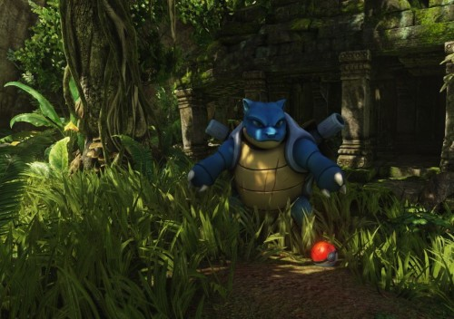 ender-fiend:  Pokémon Snap rendered with Unreal Engine 3  Environment Artist Christian Davis of Junction Point studios (Epic Mickey) took it upon himself to create an example of what Pokémon Snap would look like if made with today's technology.