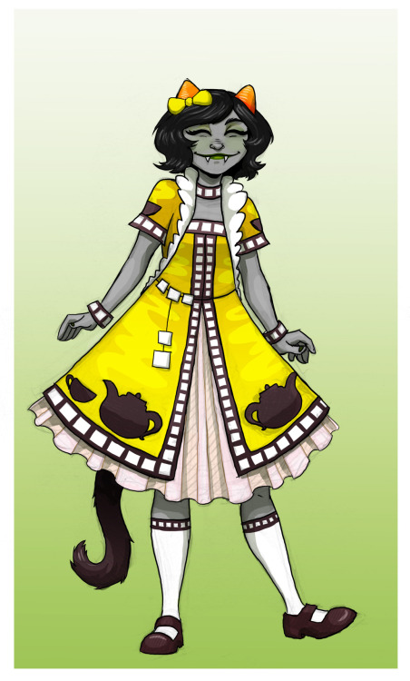 Nepeta's Land Of Little Cubes And Tea dress. ———— Gamzee   Aradia Terezi
