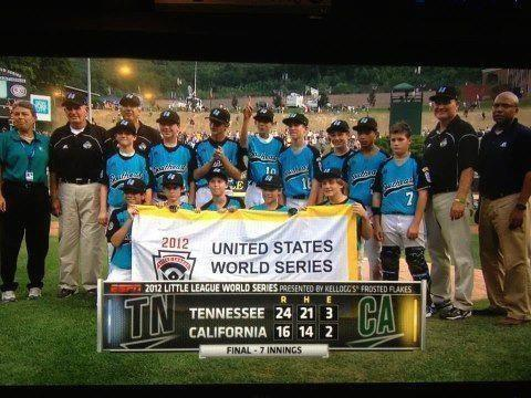 ann-youbeautifulrulebreakingmoth:  Congrats to the little league boys from MY HOME STATE OF TENNESSEE for winning the united states final in CRAZY FASHION today. Good luck in the LLWS game against Japan tommorrow!