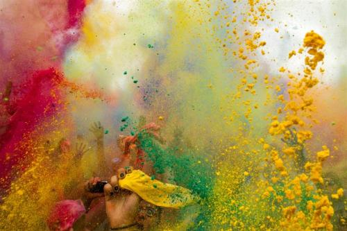 Holi festival celebrations in Berlin, Germany. 29 July 2012.  Look how far we've come.