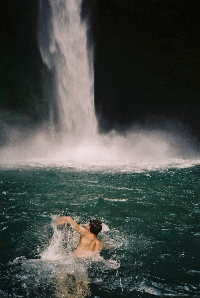 ccal:  (by Harley Weir)  I want to swim in a waterfall so badly..