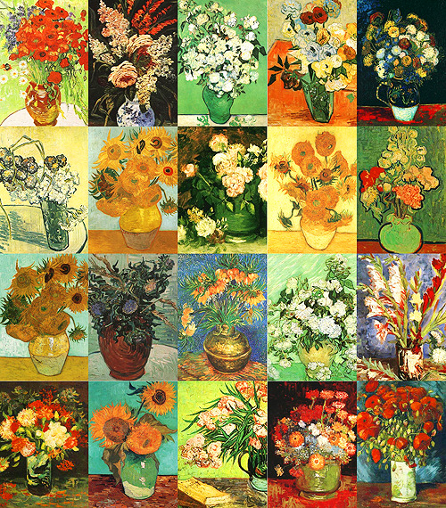 Vincent van Gogh's paintings of flowers.