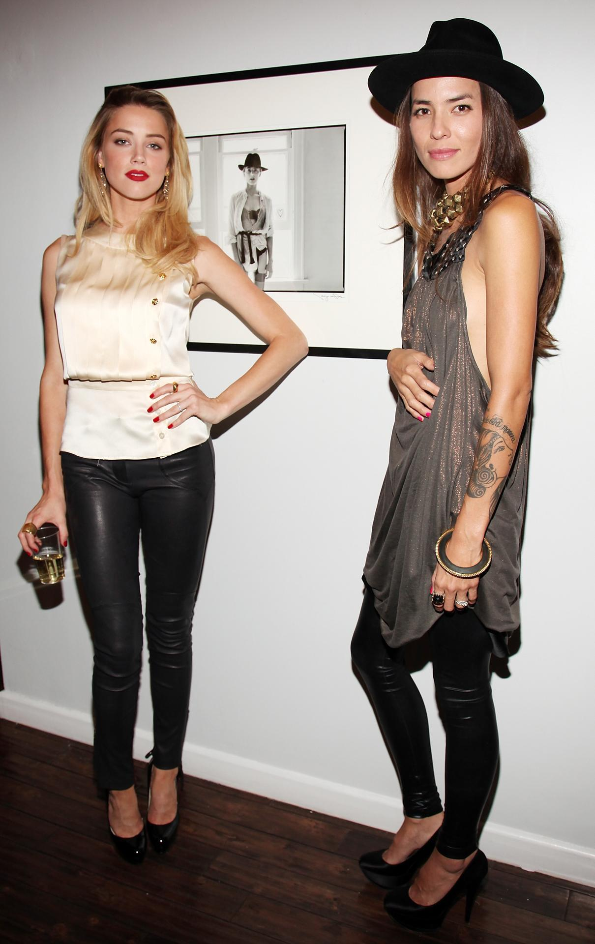 Amber Heard and her girlfriend Tasya van Ree