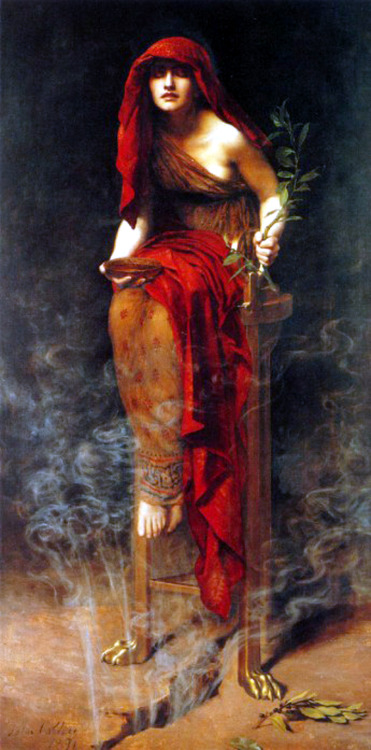 damaged-and-dangerous:  The Priestess of Delphi by John Collier