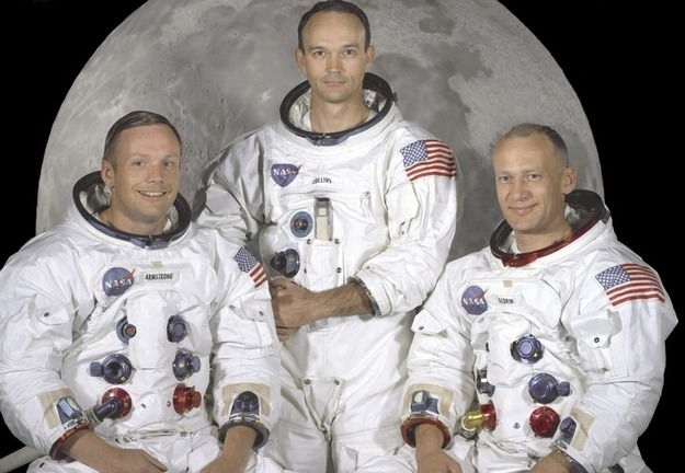 "The Apollo 11 crew of U.S. astronauts Neil Armstrong, (L) who was the Mission Commander and the first man to step on the moon, Edwin ""Buzz"" Aldrin, (R), who was the Lunar Module Pilot, and Michael Collins, (C) who was the Command Module pilot are pictured in this NASA studio file image, dated May 1, 1969."