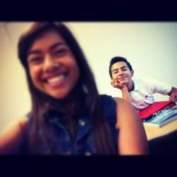 Yesterday in 7th period with Hiram 😊✌❤ (Taken with Instagram)
