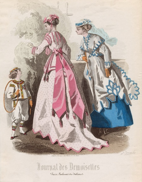 July fashions, 1867 France, Journal des Demoiselles