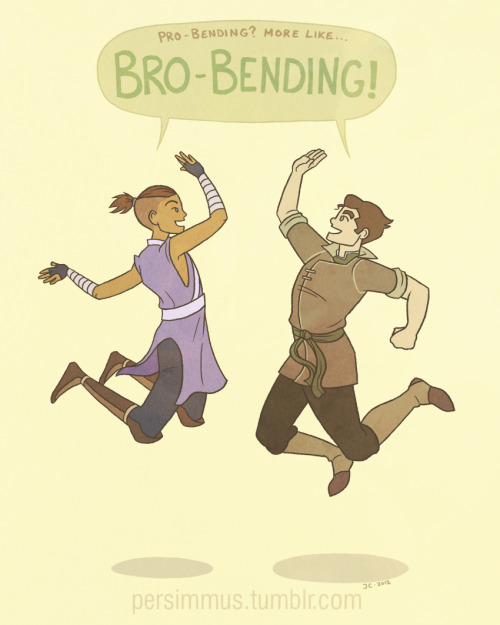 persimmus:  Because Sokka and Bolin would totally be bros.