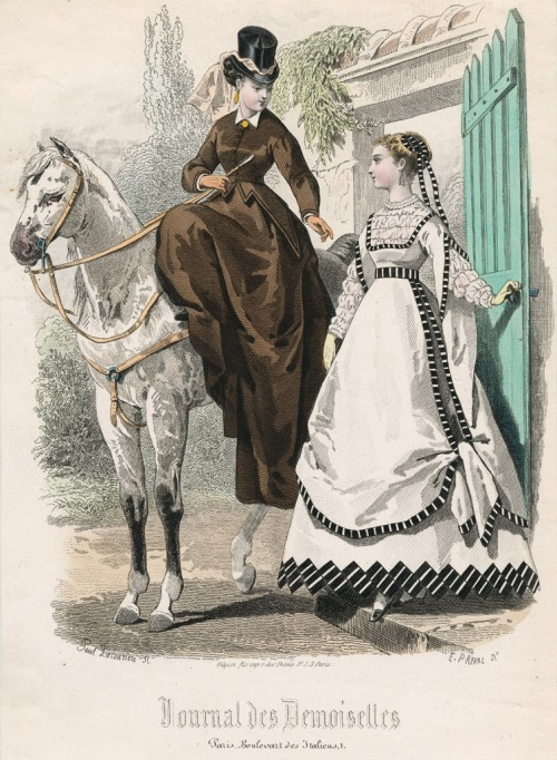 August fashions, 1867 France, Journal des Demoiselles