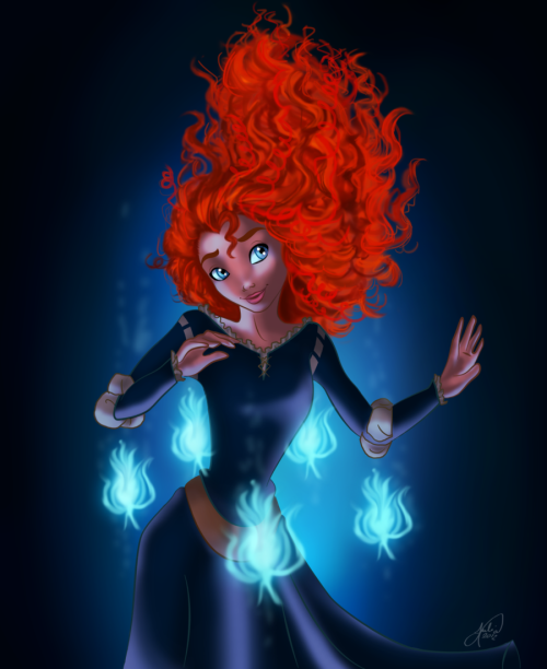 becausesometimesdreamsdocometrue:  Merida by jujubajulia.