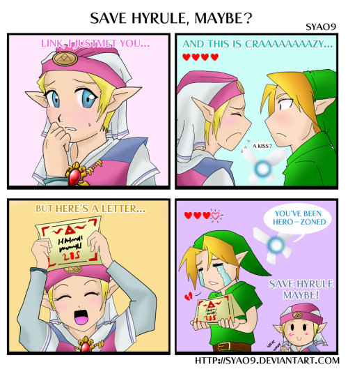 zeldaartforyou:  SAVE HYRULE MAYBE? by ~Syao9