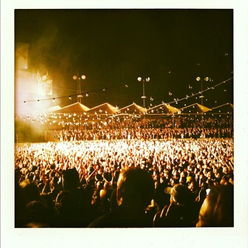 Mumford and Sons f-bomb ROCKS! #silverlining  (Taken with Instagram)