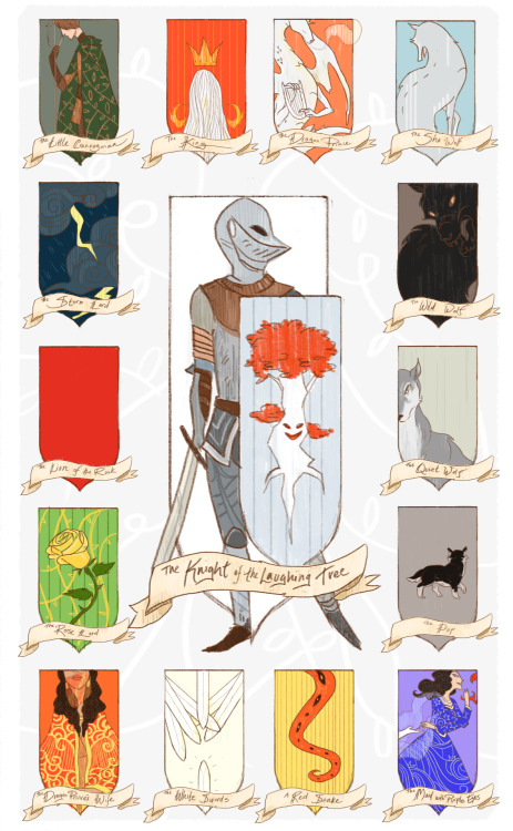 "agameofclothes:  ""There was one knight,"" said Meera, ""in the year of the false spring. The knight of the laughing tree, they called him. He might have been a crannogman, that one.""""Or not."""