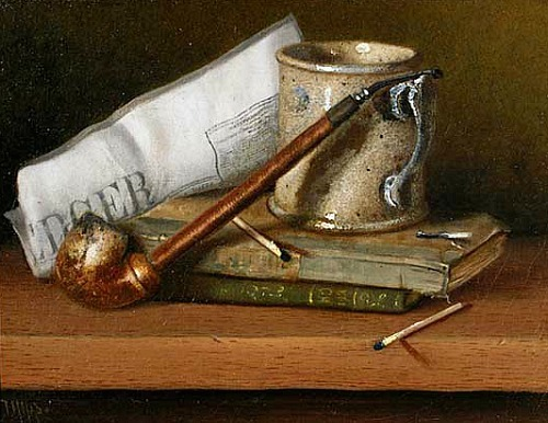 Thomas Hope Still Life with Pipe 1880