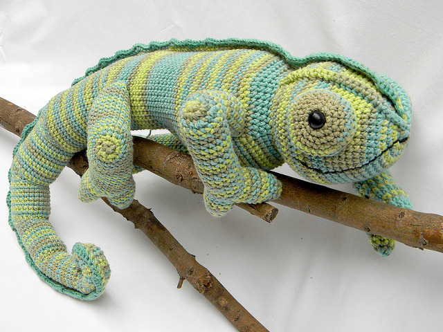 Amigurumi Chameleon Amazing crochet work via Pica - Pau's Photostream on Flickr