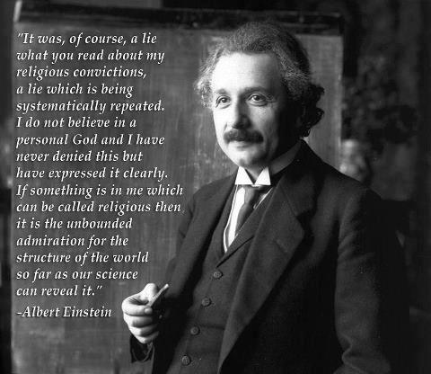 stop trying to co-opt Einstein religious people