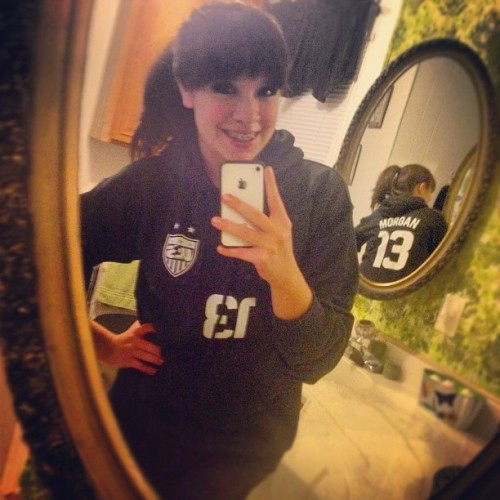 #AlexMorgan hoodie I ordered from eBay has arrived! #USWNT (Taken with Instagram)