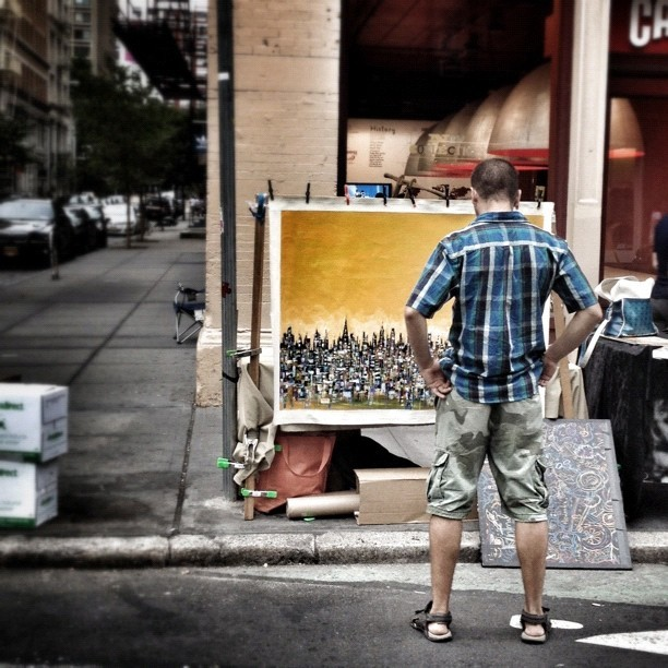 Stop & Admire. #soho #nyc #newyorkcity #art #artist #sohonyc (Taken with Instagram at Camper - SoHo)