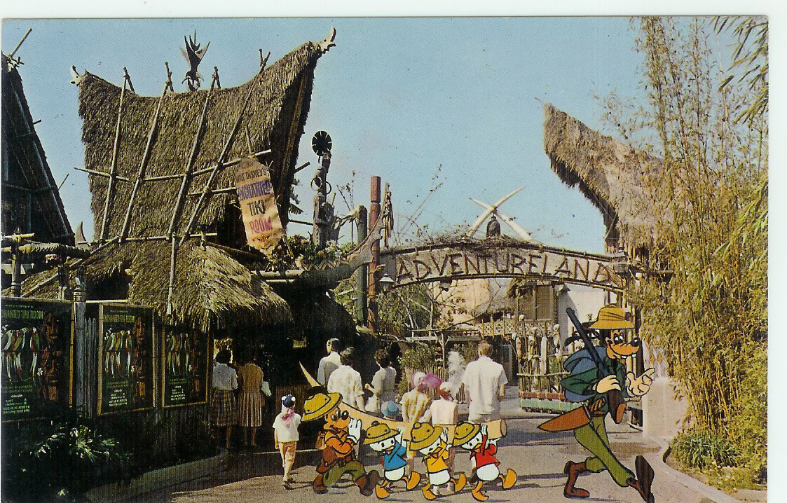 thruwaltseyes:  Adventureland Postcard.