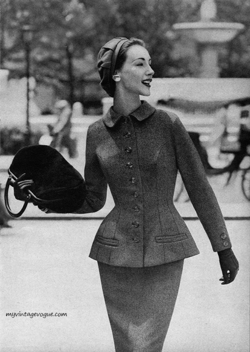 Ruth Neumann~Derujinsky, Mademoiselle September 1955 Photo by Stephen Colhoun