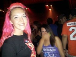 Me and baby Macy at the chiodos show :))))