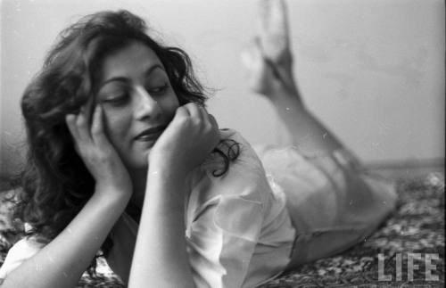 hoodoothatvoodoo:  James Burke Hindi Movie Actress Madhubala in her Room, Life Magazine, 1951