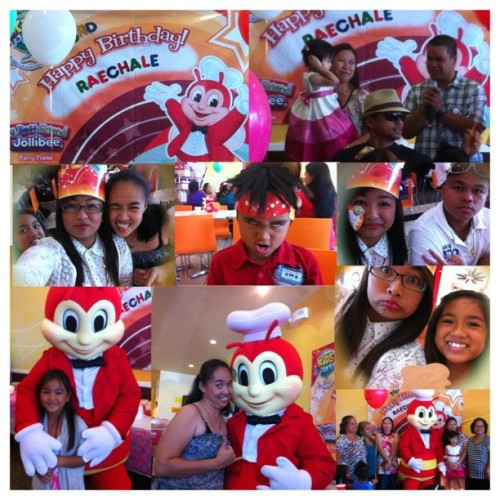 Birthday party of Raechale at Jollibee #happybirthday #raechale #jollibee #yay #collage #kbaii (Taken with Instagram)
